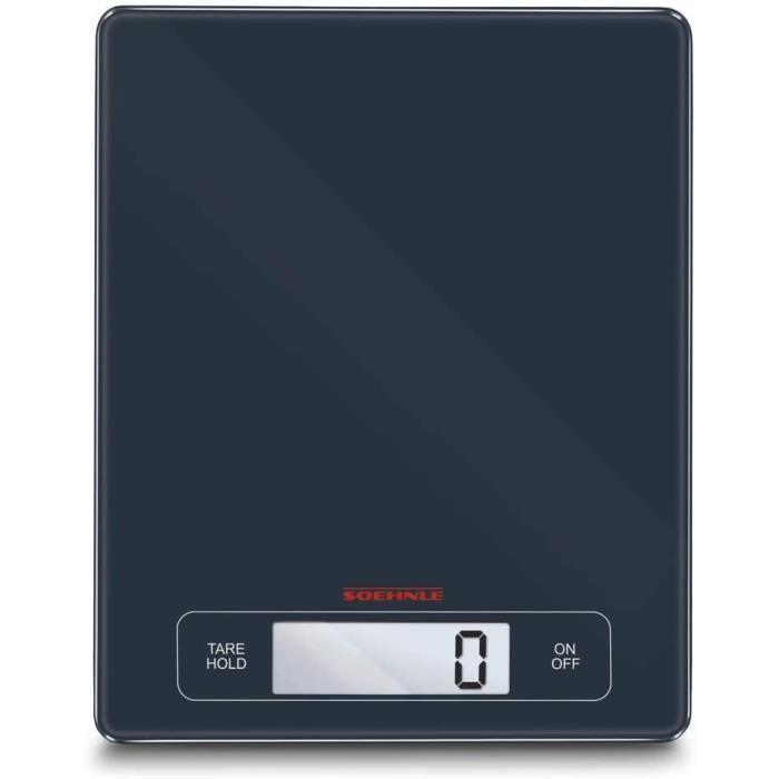 Soehnle Balance Électronique Page Profi, pèse aliment écran large multi fonctions Tare & Hold, balance alimentaire capacité 15 kg, b