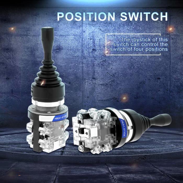 Dioche commutateur 4 positions Remplacement du commutateur de contrôleur de joystick AC 380V 15A 4 positions 4NO Joystick