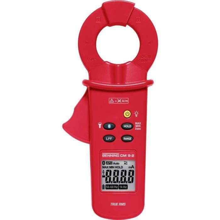Pince ampèremétrique Benning CM 9-2 044685 numérique enregistreur de données CAT IV 300 V Affichage (nombre de points):