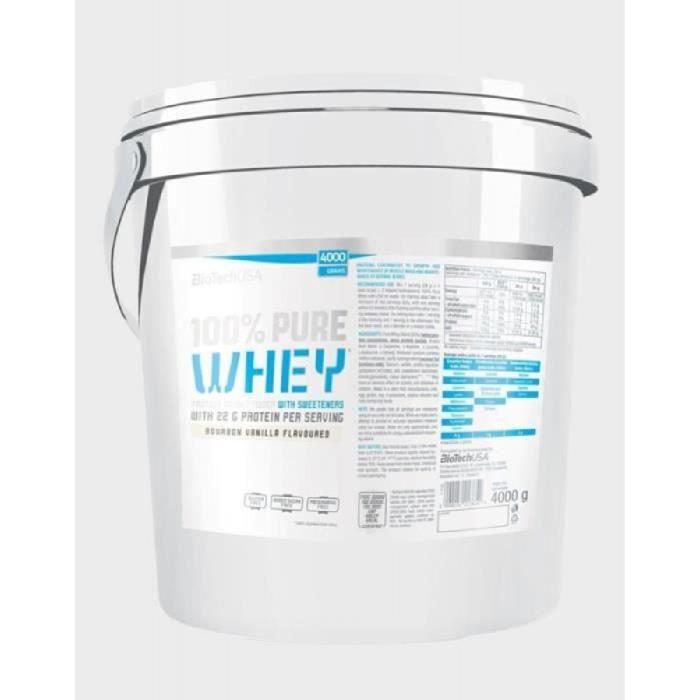 100% Pure Whey (4Kg) Vanille BioTech USA