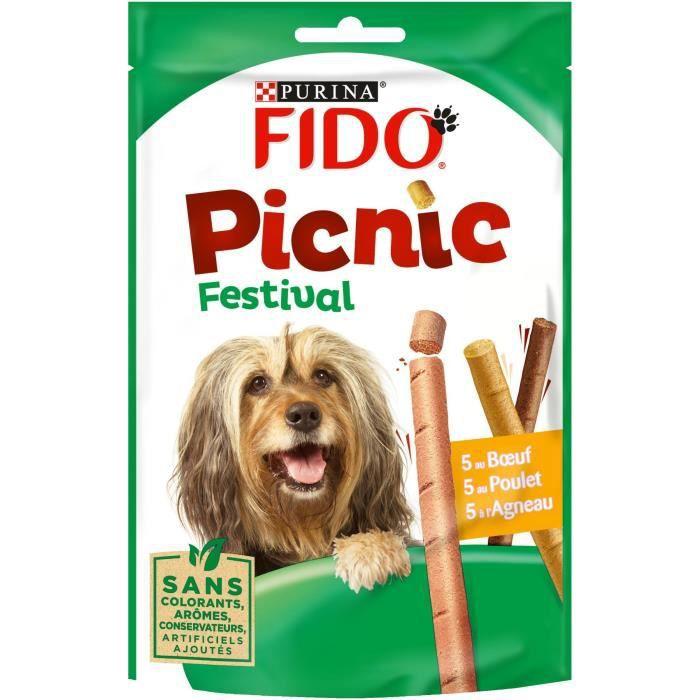 FIDO Picnic Festival au bœuf, poulet et à l'agneau - Pour chien - 126 g