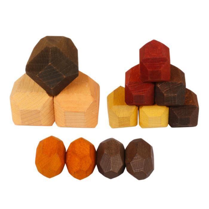 1 jeu d'empilage de blocs empilés de nouveauté mignon chic pour enfants LIME A ONGLES - POLISSOIR - BLOC BLANC - PIERRE PONCE