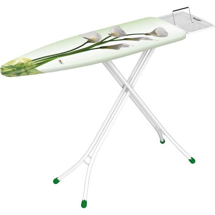 Gimi Classic, Planche à repasser Full-size, Coton, Fer à repasser à sec ou à vapeur, Multicolore, Blanc, Motif, Floral pattern