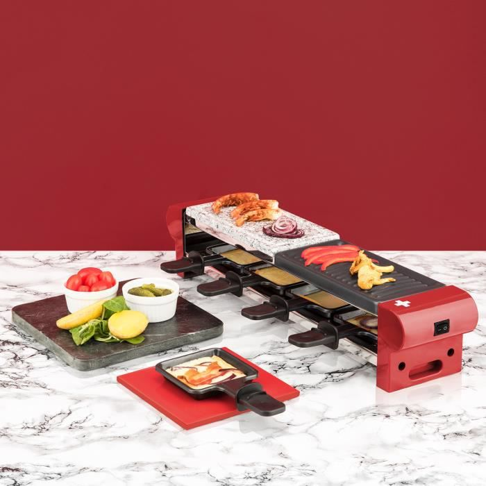 Appareil à raclette + pierre à cuire GRANIT et grill pour 4 personnes