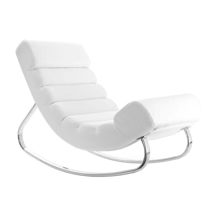 Miliboo - Rocking chair design blanc TAYLOR