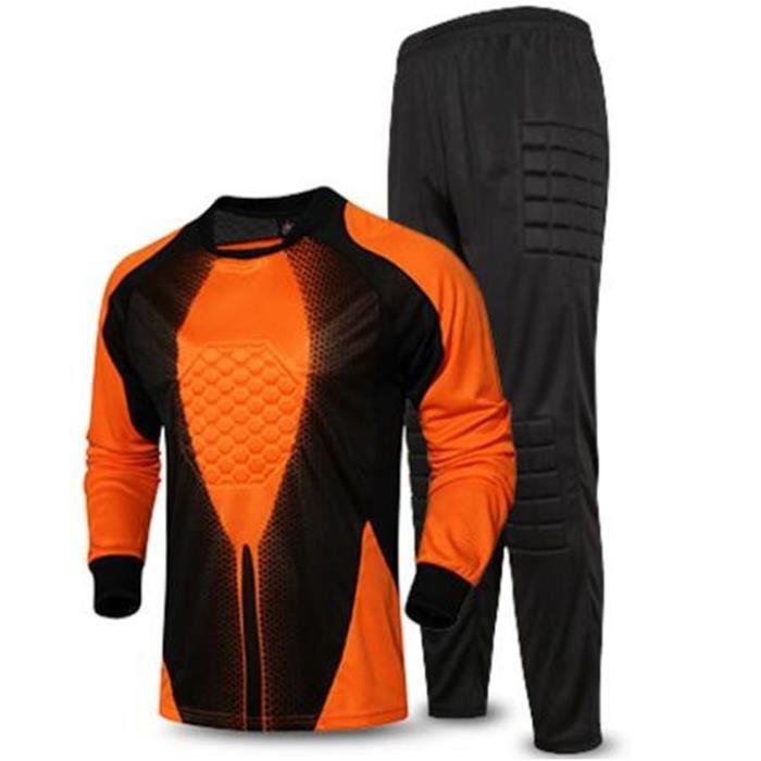 Maillot de soccer long uniforme de gardien de but pour hommes maillot de protection en éponge de maillot de football gardien gardien