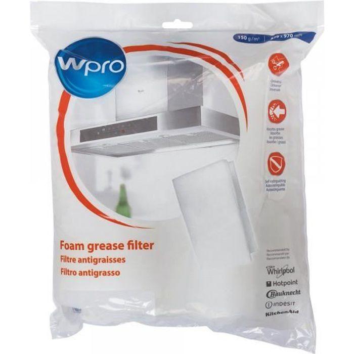 UGF016 - Filtre antigraisse universel hotte aspirante - WPRO 484000008523