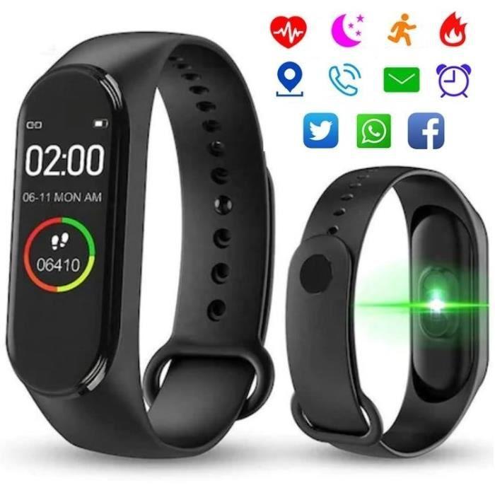 Montre Connectée Bluetooth Tactile Sport Noir