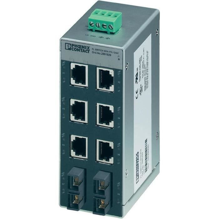 Switch Ethernet 6 ports TP-RJ45 Phoenix Contact…