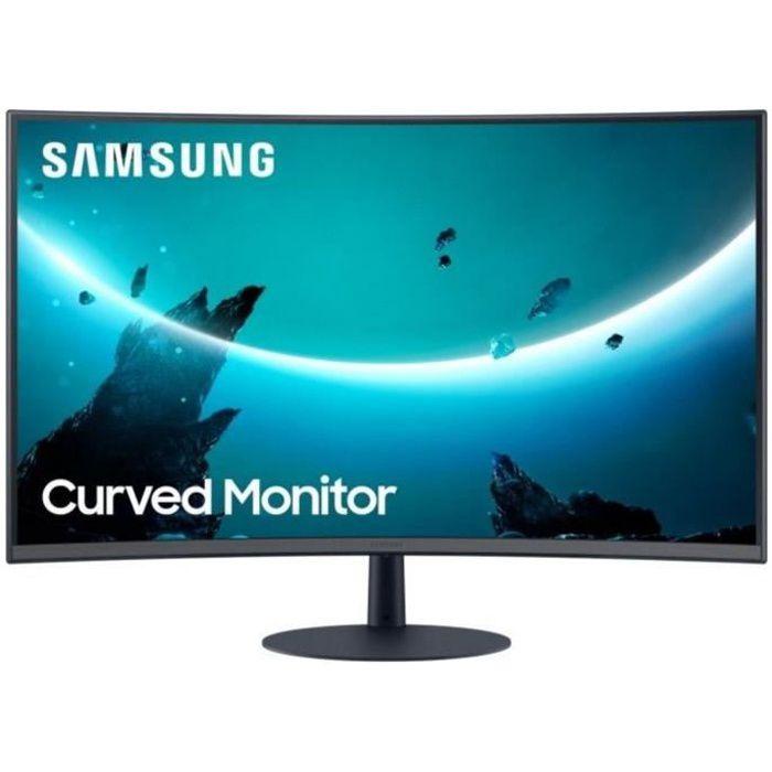 ECRAN 24'' SAMSUNG LC24T550FDR FHD - 4 ms - 250 cd/m² 3000:1 D-Sub HDMI Display Port 75Hz Incurvé Noir