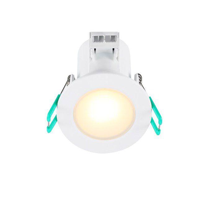 SYLVANIA Lot de 3 spots LED encastrables de salle de bain - 6,5 W - 540 lm - IP65 - 3000 K