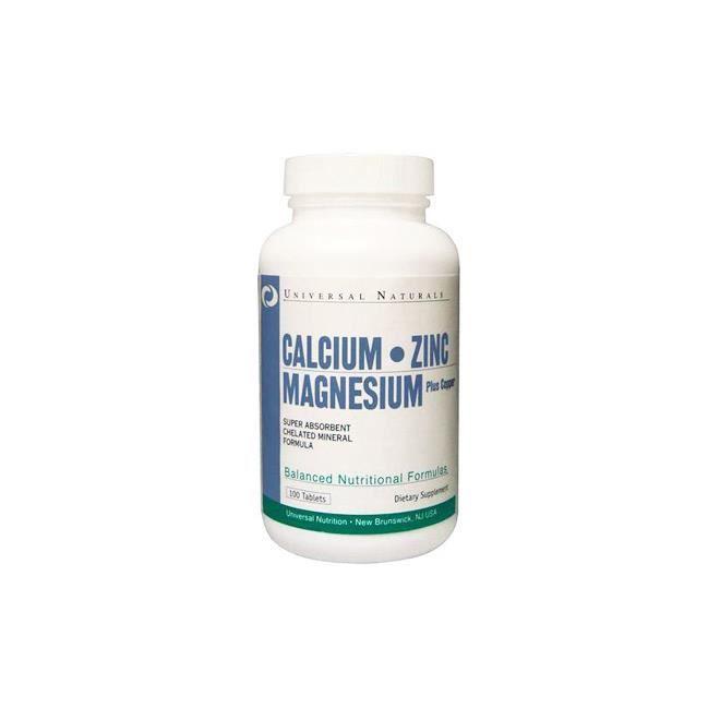Universal Calcium, Zinc, Magnesium (100 comprimés)