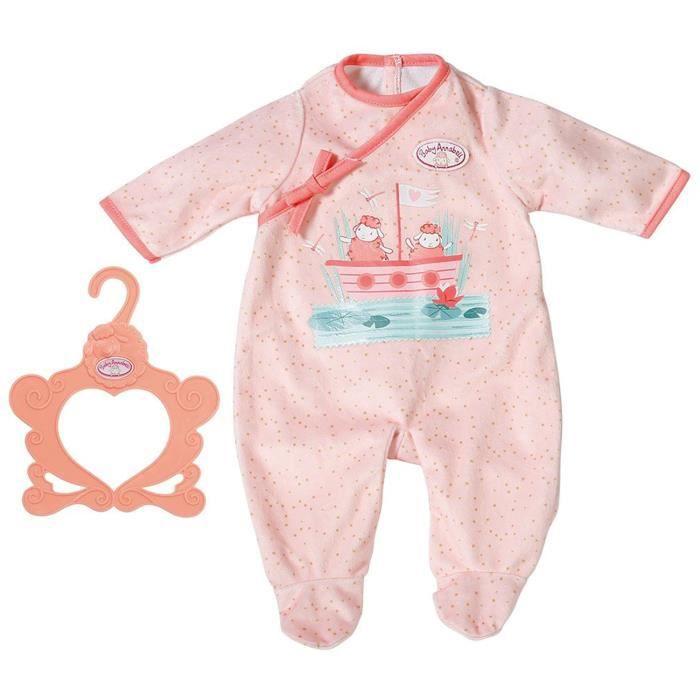 Accessoire pour poupée Zapf Creation 703090-A Baby Annabell Grenouillère rose 43 cm