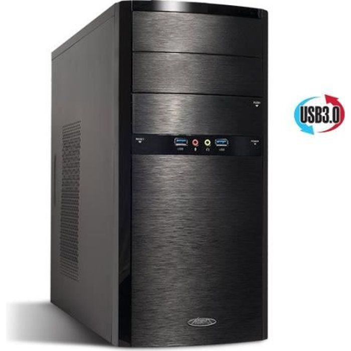 boitier pc micro atx advance elite 480w prix pas cher cdiscount. Black Bedroom Furniture Sets. Home Design Ideas