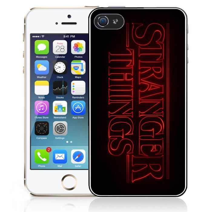 coque iphone 5 5s se stranger things logo