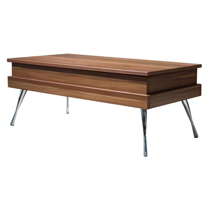Table basse plateau relevable boston - Table basse 2 plateaux ...