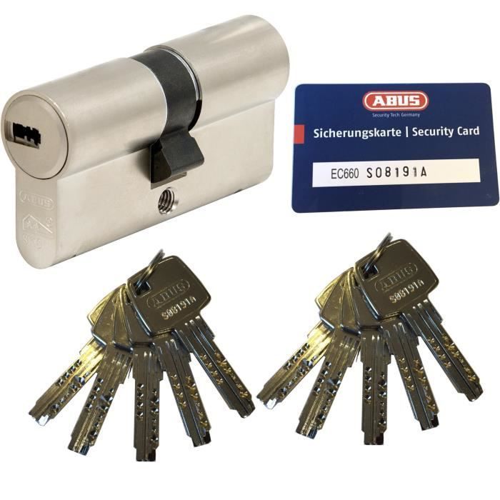 Abus ec550 Double Cylindre Cylindre De Verrouillage 35//45mm Avec 3 à 10 clés