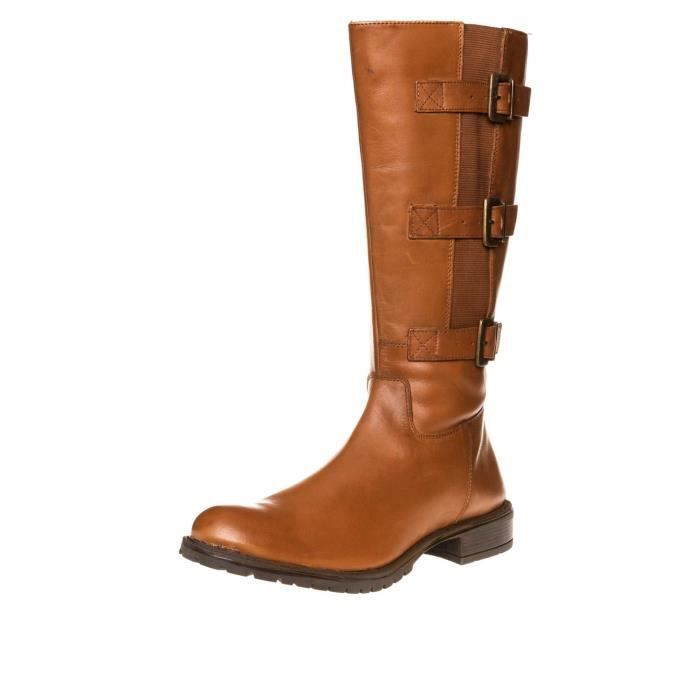 SHEEGO Bottes Mollet Large Grande Taille Cognac Achat