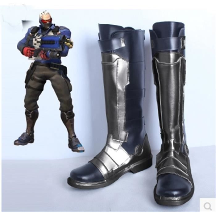 Cosplay Bottes Soldat Shoes Déguisement 76 Boots Overwatch BerxWdCo