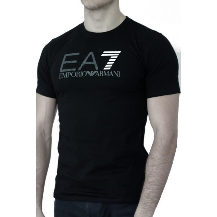 T-shirt EA7 EMPORIO ARMANI homme manches courtes noir Noir noir - Achat /  Vente t-shirt - Cdiscount