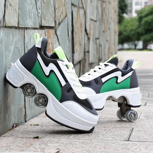 JTKDL Roller Shoes Adulte Chaussure Roller Fille Kick Roller Skate ...