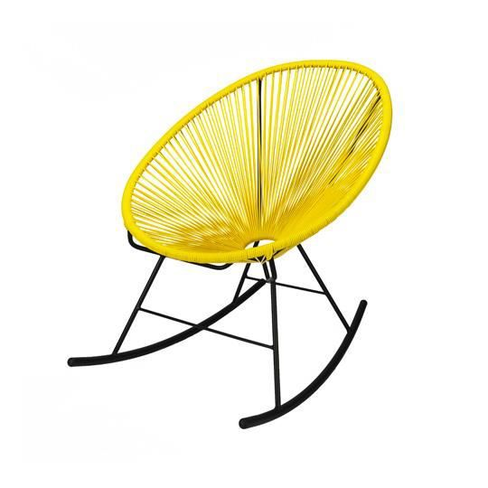 fauteuil acapulco rocking chair jaune achat vente. Black Bedroom Furniture Sets. Home Design Ideas