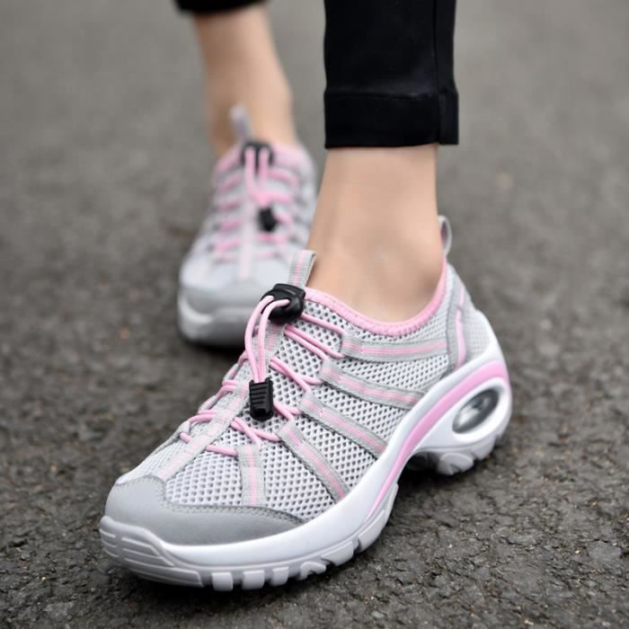 Baskets Lacet Sport Respirante Course Air Running Multicolore Femme Style Fitness Violet Sneakers Chaussures Gym noir gris Jogging wpq0wdxF4