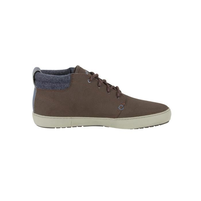 Lacoste Homme Ampthill Terra 417 1 CAM Leather Trainers, Marron