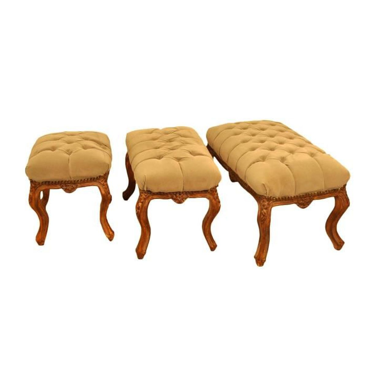 tabouret capitonn suedine beige petit mod le achat. Black Bedroom Furniture Sets. Home Design Ideas