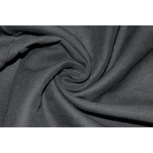 TISSU Tissu Lin Uni Noir 100% Coupon de 3 mètres