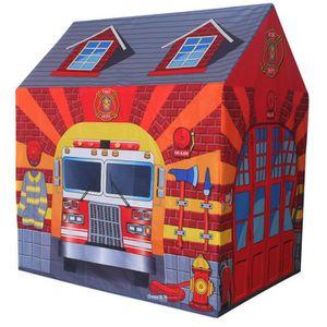 TENTE TUNNEL D'ACTIVITÉ Bentley Kids - Tente de jeu caserne de pompier - e