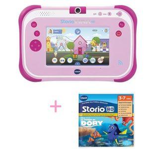 TABLETTE ENFANT VTECH - Tablette STORIO MAX 2.0  rose & Jeu Le mon