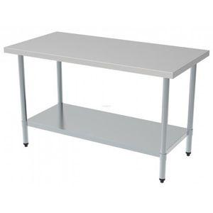 ajustable Table travail professionnelle acier inox pieds de MpjGVLqUzS