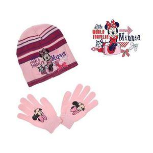BONNET - CAGOULE Ensemble MINNIE bonnet gants enfant 52 cm