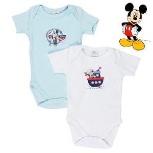 BODY Lot de 2 bodies bébé garçon Mickey marin de Disney