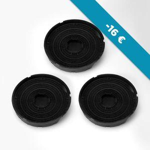 Exquisit Filtres à charbon graisse de l/'air pour hotte de cuisine 2 pcs noir MD1