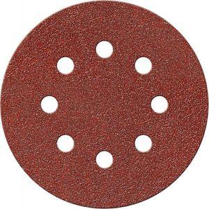 Lot de 50 K180 Disques abrasifs excentriques en papier abrasif /Ø 125 mm 8 trous avec disques Velcro pour meuleuse Flex meuleuse dangle