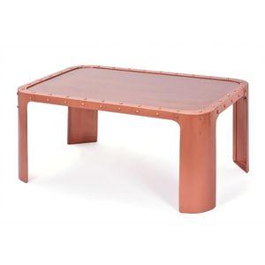 TABLE BASSE Table basse Gormur - 70 x 110 x 45 cm - Métal - Cu