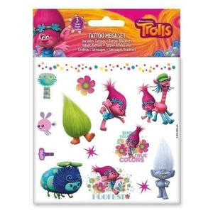 JEU DE TATOUAGE TROLLS Mega Set Tattoos