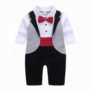 Ensemble de vêtements Tout-petit bébé garçons Gentleman Bowtie machaon P