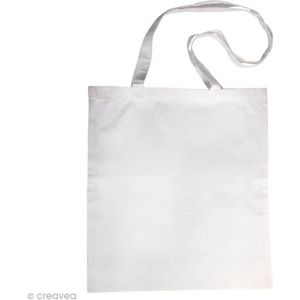 SAC SHOPPING Sac en coton personnalisable Blanc - anses longues