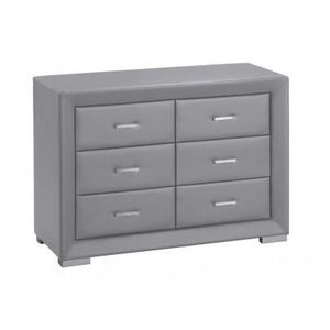 commode 6 tiroirs gris achat vente commode 6 tiroirs. Black Bedroom Furniture Sets. Home Design Ideas