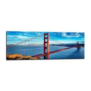 Best for Home Tableau sur Toile panoramique en mer 120 x 40 cm