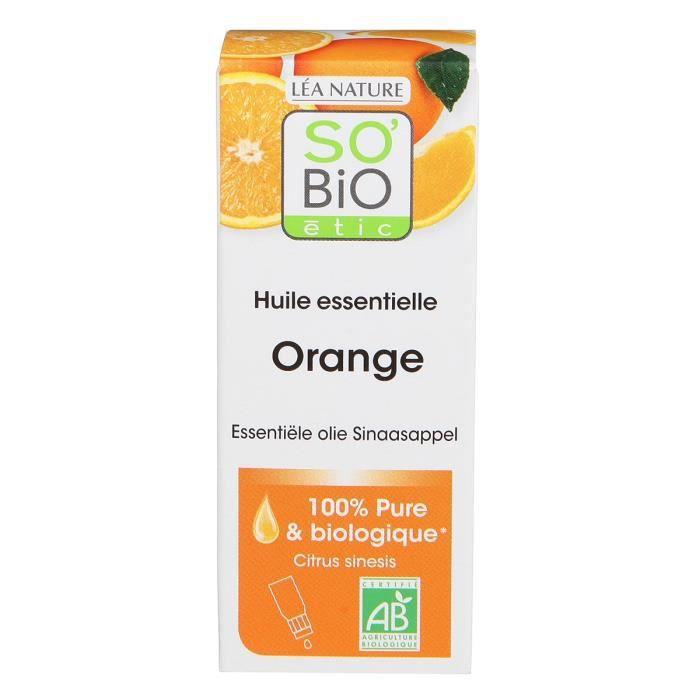 HUILE - LAIT MASSAGE SOBIO Huile essentielle orange - Bio - 15 ml - Rel