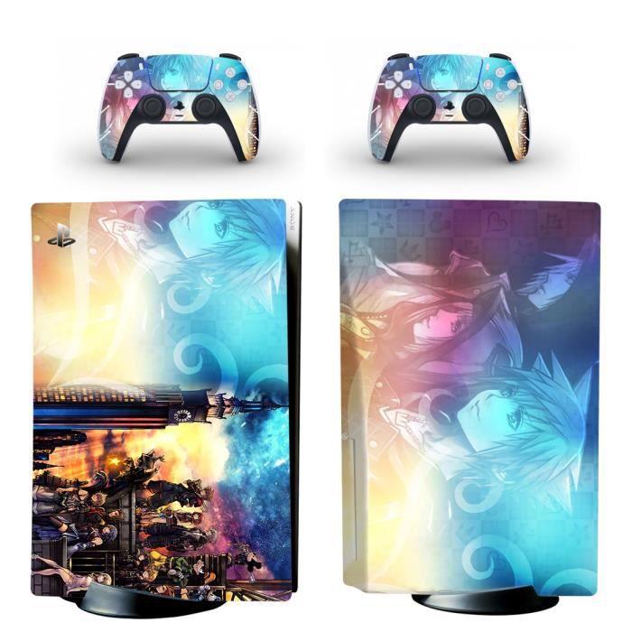 Kingdom Hearts PS5 Sticker Skin Peau d'autocollant de protection pour PS5 Playstation 5 Console et 2 contrôleurs 06