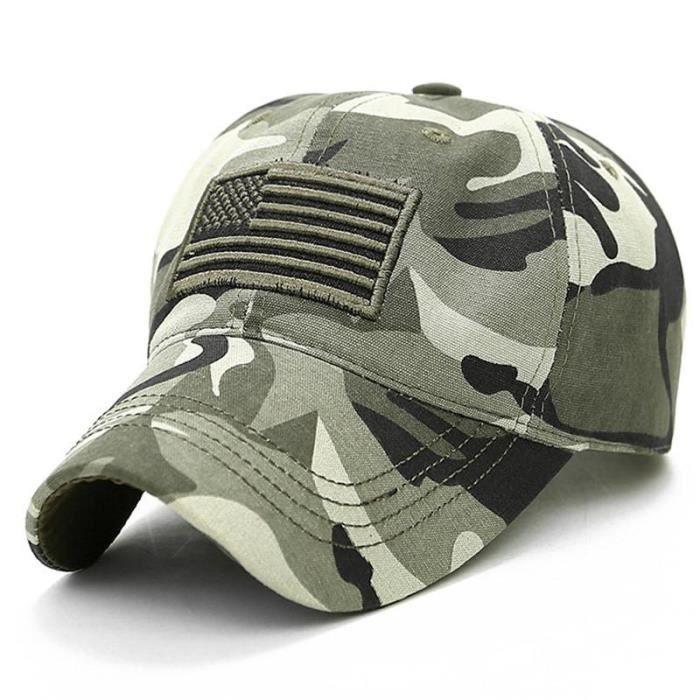Camouflage Hommes Femmes Armée Militaire Camouflage Casquette De Baseball Usa Drapeau Chapeau Tactique Snapback
