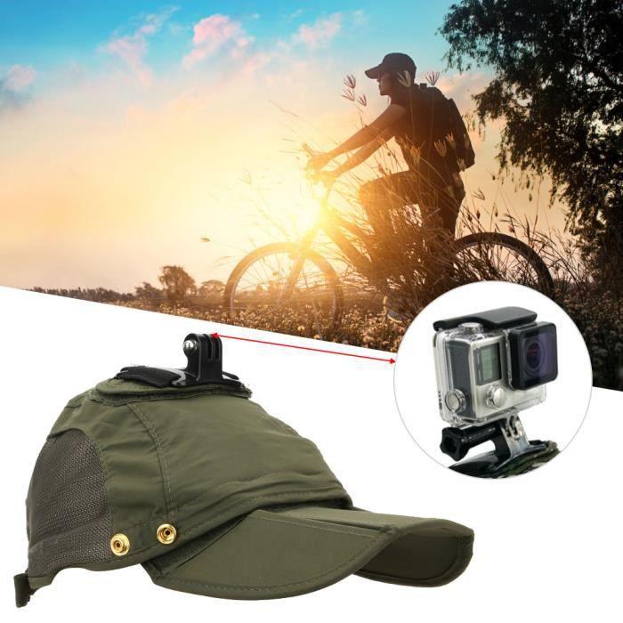 Casquette de baseball imperméable multifonctionnelle pour appareil photo de sport pour DJI Osmo Action - Gopro (vert) HY593 HB013