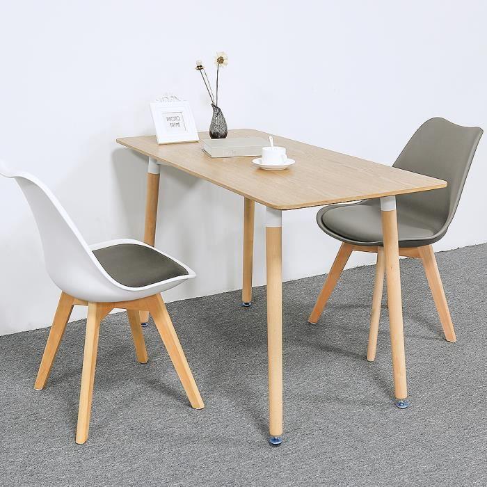 Table à Manger Bois Massif Table de Cuisine Design scandinave Couleur du bois