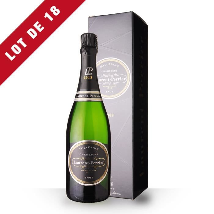 Lot de 18 - Laurent-Perrier 2008 Brut - Etui - 18x75cl - Champagne