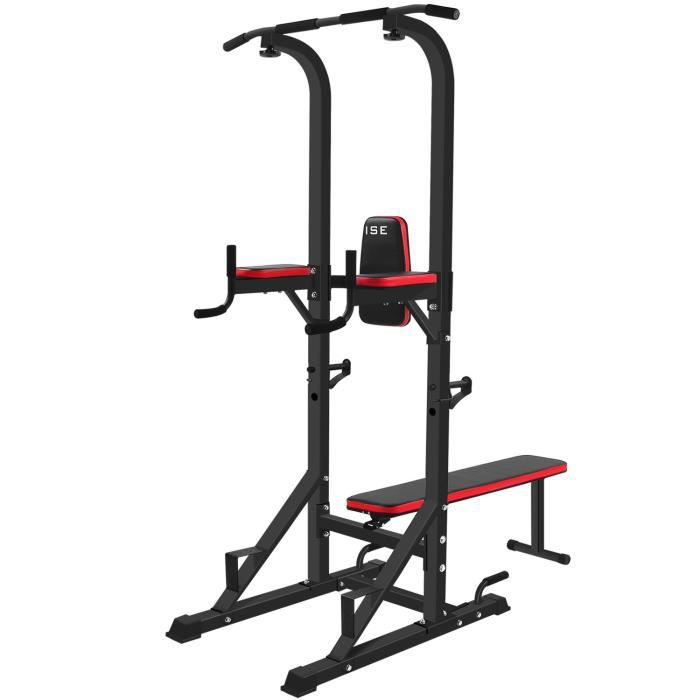 ISE Chaise Romaine Station Traction dips Multifonctions Barre de Traction dips Banc de Musculation